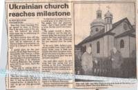 Ukrainian Church Reaches Milestone