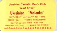 Ukrainian Malanka Ticket