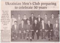 Ukrainian Men's Club Preparing to Celebrate 50 Years