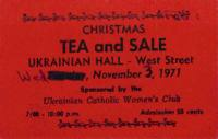 Christmas Tea and Sale