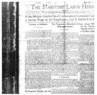 Maritime Labour Herald: November 12, 1921