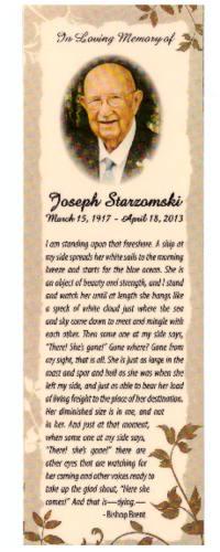 Joseph Starzomski, Memorial Card