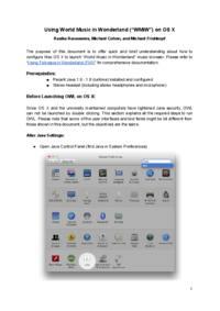 Using WMiW on OS X
