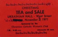 Christmas Tea and Sale